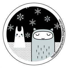 badge, neige